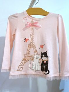 Cute T-shirts with retro 1950's Parisian theme for girls fashion at Gapkids spring 2012