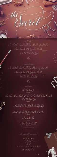TheSecret: Luxury Calligraphy Script by Blessed Print on @creativemarket