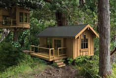 Salal model plans small modular homes ferienhaus, kleines hä Tiny Cabins, Tiny House Cabin, Cabins And Cottages, Tiny House Living, Tiny House Design, Cabin Homes, Small House Plans, Small Cottages, Tiny Cabin Plans