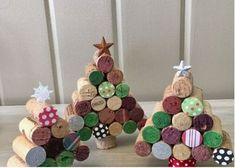 "Items similar to Cork Upcycled Wine Cork Christmas Wall Hangings ""Noel"" on Etsy Cork Christmas Trees, Christmas Wall Hangings, Felt Christmas Decorations, Christmas Ornament Crafts, Christmas Wine, Christmas Projects, Handmade Christmas, Holiday Crafts, Christmas Angels"