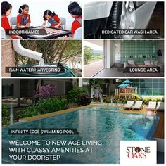 At Stone Oaks, get ready to explore a host of new age amenities including an Infinity Swimming Pool with a Toddler's Pool, Dedicated Car Wash Bay, Indoor Games, and a Visitors Lounge Area that Opens to Sky. For a Site Visit & Project Brochure Call: +91 76760 09999 or visit http://neevavantgarde.com/luxury-apartments-hosur-road/stoneoaks/