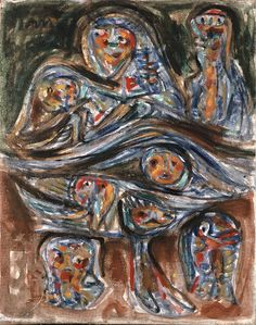 Asger Jorn (1914-1973) was een Deens kunstschilder, schrijver en filosoof. Hij was een van de hoofdfiguren van de Cobrabeweging.-1949