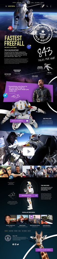 Guinness World Records Website on Behance
