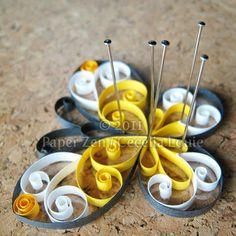 Butterfly Quilling Patterns PDF Tutorial by PaperZenShop on Etsy
