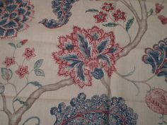 """SANDERSON CRAFT FABRIC REMNANT """"PALAMPORE A"""" 94 X 145 CM 100% LINEN in Crafts, Sewing & Fabric, Fabric 