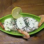 Papillotes de saumon, pommes de terre, crème et ciboulette.au micro-ondes.