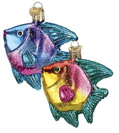 Tropical Angelfish Glass Ornament