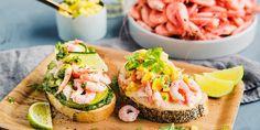 Avocado Egg, Avocado Toast, Fresh Rolls, Salmon Burgers, Pesto, Seafood, Breakfast Recipes, Side Dishes, Mango