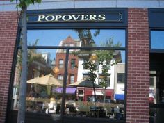 Popovers restaurant in Portsmouth, NH  The wonderful downtown in the reflection