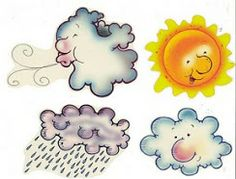 Imagenes tiempo. Summer Crafts, Diy And Crafts, Weather Calendar, Weather Crafts, Kids Songs, Conte, Colouring Pages, Nursery Rhymes, Holidays And Events