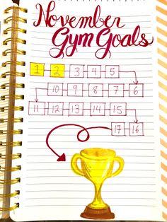 Bullet journal - Fitness tracker, gym tracker, weight loss goals