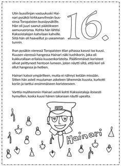 Joulukalenteri 2015 Ovet, Words, Christmas, Xmas, Navidad, Noel, Natal, Horse, Kerst