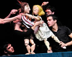 I love modern Bunraku puppetry and I also l love puppets with geometric facial features.
