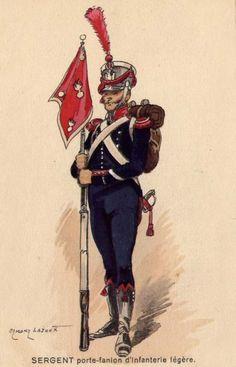 Porta gagliardetto della fanteria leggera