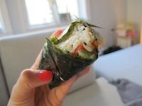 """I can't tell you how excited I am to be sharing my favorite sandwich recipe with you today. I came across these """"on the go snacks"""" called onigiri in Japan last year when we climbed Mt Fuji. Our guide and … Continued"""