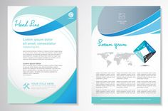 Vector Brochure Flyer design Layout template, size Front page and back page, infographics. Easy to use and edit. Page Layout, Layout Design, Layout Template, Templates, Report Design, Fitness Motivation Quotes, Royalty Free Photos, Flyer Design, Projects To Try