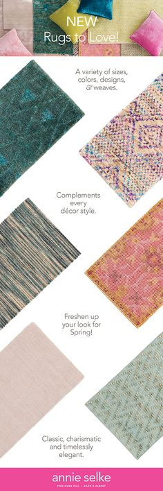 Discover new rugs and new area rugs for sale at Annie Selke. In a wide range of styles and colors, you'll be sure to find the perfect fit for your home. Little House Living, Rugs For Less, Dash And Albert, Area Rugs For Sale, Rag Rugs, Carpet Tiles, Home Rugs, Indoor Outdoor Rugs, House Projects