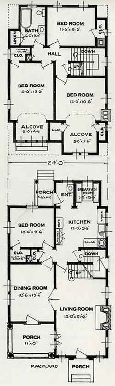 The Maryland, Standard Home Plans for 1926    Floorplan