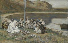 Meal of Our Lord and the Apostles / Repas de Notre-Seigneur et des apôtres // 1886-1894 // James Tissot // Brooklyn Museum // #Jesus #Christ #Cristo