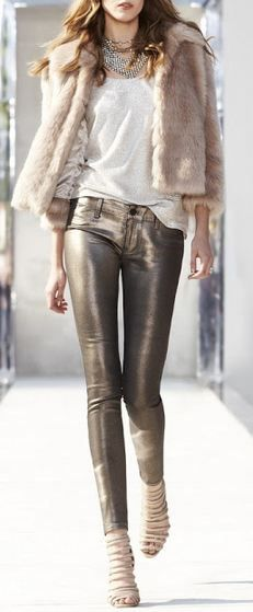 Street style fashion / karen cox. neutrals done right - pink and bronze - winter street style and chic