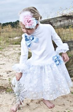 G wants a blue and white snowflake dress for christmas...this one is cute enough, but is $70!  Need to keep looking....