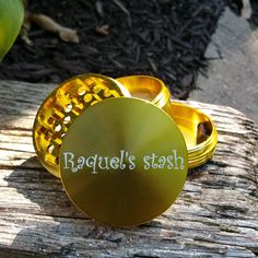 Gold Multi-Tooth Custom Herb Grinder. This smoking accessory is one of the most badass top shelf grinders in the cannabis industry today to make your own grinder visit customherbgrinders.com