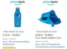 """Amazon: Strand-Schnäppchen und Getränke für einen Tag reduziert https://www.discountfan.de/artikel/technik_und_haushalt/amazon-strand-schnaeppchen-und-getraenke-fuer-einen-tag-reduziert.php Alles für den """"Tag am Meer"""" hat Amazon heute im Rahmen seiner Prime-Deals im Angebot. Mit dabei sind Erfrischungsgetränke, Sonnenpflegemittel, Strandmuscheln, Schlauchboote und Kühlboxen. Amazon: Strand-Schnäppchen und Getränke für einen Tag reduziert (Bild: Amazon.d"""