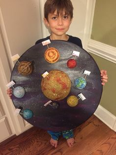 Solar System Science Project, Solar System Projects For Kids, Science Projects, School Projects, Projects To Try, Planet Project, Solar System Model, Fun Crafts For Kids, Space Exploration