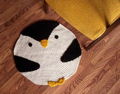 CROCHET PENGUIN RUG by peanutbutterdynamite on Etsy