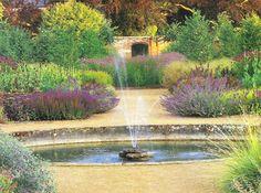 a fountain in the perennial meadow