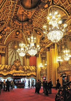 Los Angeles Theater Lobby by Wendell F. Benedetti -- Take a note from the tradition theater weather it be in form, pattern or color