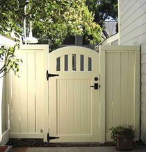 White Picket Gate. http://www.pacificgateworks.com Rose City Collection