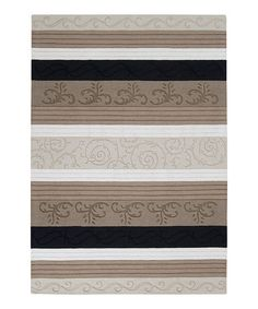 Take a look at this Ivory Mystique Wool Rug by Surya on #zulily today!