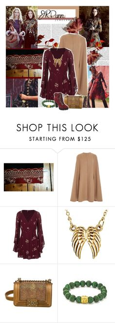 """""""Sparkle for the Holidays"""" by lejournaldessecrets ❤ liked on Polyvore featuring Oscar de la Renta, Dunn, Free People, Chanel, Nine West, hippie, autumn and JRDunn"""