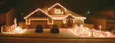 Musical Christmas Lights On House   That is, if I can stay focused long enough...