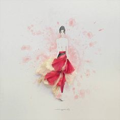 jesuso ortiz Flower Dresses, Blooming Flowers, Love Flowers, 3d Street Art, Flower Cards, Whimsical, Flower Designs, Art Forms, Fashion Art