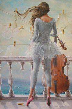 * Poesia * Musica |: Chelìn Sanjuan 1967 | Spanish Magical Realism painter ✿⊱╮