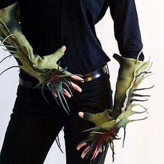 Митенки из войлока   #mittens #merinowool and #silk #ручнаяработа #войлок #handmade #felt #felting #wool
