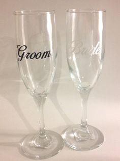 Custom Champagne Flutes (Set of 2) on Etsy, $5.00