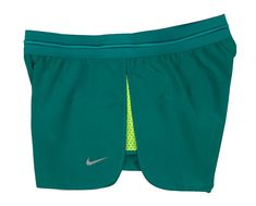 781b15cb7090 Nike Womens Dri-Fit Fast Tempo Running Shorts w Brief Liner Blue Navy Green  New (Green
