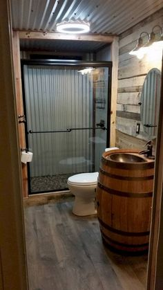 Awesome Rustic Bathroom Ideas for Upgrade Your House Aw. - Awesome Rustic Bathroom Ideas for Upgrade Your House Awesome Rustic Bathro - Rustic Bathroom Designs, Rustic Bathroom Decor, Rustic Decor, Rustic Shower, Rustic House Design, Rustic Houses, Rustic Cabins, Barn Bathroom, Modern Bathroom