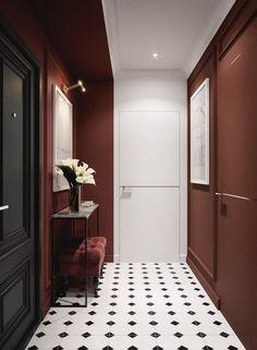 Flur Design, Wall Design, Estilo Color Block, Home Room Design, House Design, Home Modern, Hallway Designs, Flat Ideas, Interior Concept