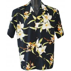 chemise hawaienne ... Orchid black