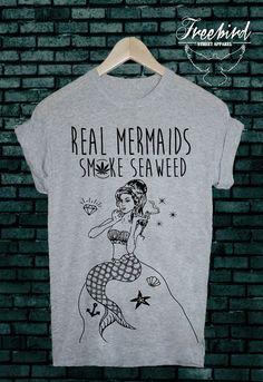 REAL mermaids SMOKE seaweed grunge sea tshirt tee