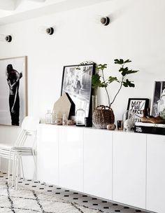 Fun lamps. Plus I love white+wood