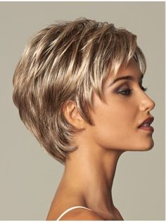 Becoming by eva gabor wigs short haircuts cabelo curto repic Short Thin Hair, Short Hairstyles For Thick Hair, Short Layered Haircuts, Short Hair With Layers, Short Hair Cuts For Women, Curly Hair Styles, Haircut Short, Layer Haircuts, Wavy Layers