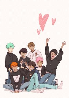 Bts fanart- Together forever by Ennun on Twitter (https://twitter.com/ennunanaiurov)