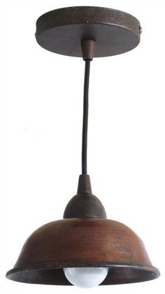 Availability: Usually Ships in 4 to 6 Weeks Description Copper Pendant Light A dark brown 8 inch pendant light has an adjustable 53 inch length cord. This small light can be hung from the ceiling in a