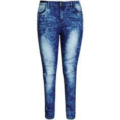 City Chic Moto Apple Skinny Jean (345 NOK) ❤ liked on Polyvore featuring jeans, pants, bottoms, ripped jeans, blue jeans, blue skinny jeans, stretch skinny jeans и destroyed skinny jeans