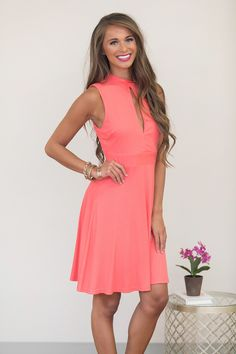b7b8c5d9b5 Carefree Afternoons Dress Coral - The Pink Lily Pink Lily Boutique, Luxury  Dress, Online